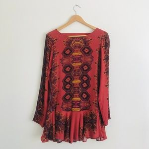 Urban Outfitters Long Sleeve Paisley Tunic Sz M